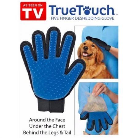 Перчатка для вычесывания шерсти домашних животных True Touch оптом  купить