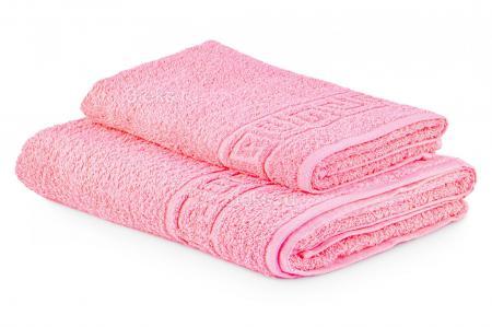 Полотенце махровое гладкокрашеное (Розовый)  купить