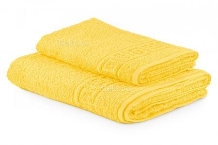Полотенце махровое гладкокрашеное (Лимон)  купить