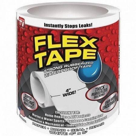 Водонепроницаемая изоляционная лента Flex Tape белая  купить